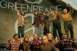 Crew of PHYLLIS CORMACK. 1st Greenpeace trip to Amchitka Isl. to protest USA nuc. testing